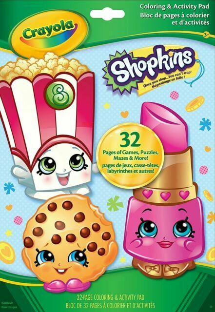 2 Crayola Shopkins Coloring & Activity Pad 32 Pages For Sale Online EBay