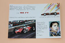 B980PC Miniatures château Carte postal Ferrari 156 F1 Baghetti GP France Heco