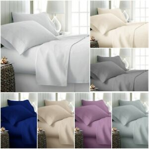 LUXURY-100-POLY-COTTON-FLAT-SHEET-BED-COVER-SINGLE-DOUBLE-KING-SUPER-KING-SIZE