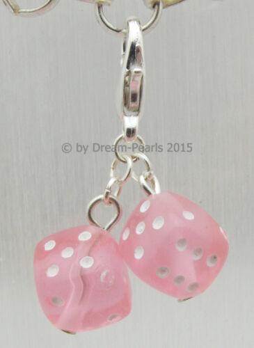 ♥ Dream-Pearls Süße Charms Glückswürfel Würfel Anhänger verschiedene Farben ♥374