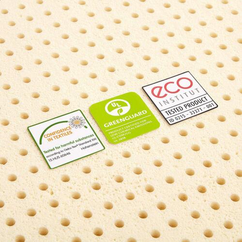 """100/% Natural Latex Foam 3/"""" Mattress Topper Pure Green Medium Firmness 30ILD New"""