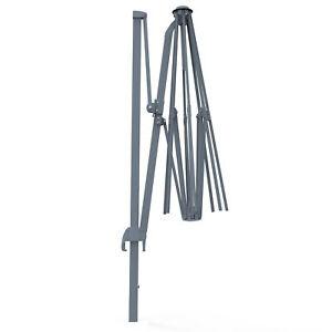Sonnenschirm Ampelschirm Gartenschirm Schirm Gestell 4x3m silber Kurbel B-Ware