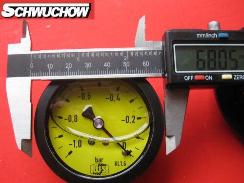 Ersatz 1 Vakuummeter mit Glyzerin für Pumpenprüfkoffer Öl Ölpumpe Danfoss Suntec