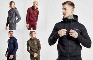 New-McKenzie-Men-s-Essential-Zip-Through-Hoodie-Red-Green-Grey-Black-amp-Navy