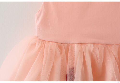 Infant Baby Girl Birthday Wedding Pageant Party Princess Tutu Rose Flower Dress