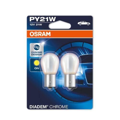2x Ford Focus MK2 Genuine Osram Diadem Chome Amber Front Indicator Light Bulbs