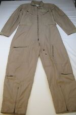 US Military Coveralls Type 1 Class 2 CWU-27/P Tan Flyers Flight Suit 46 L EUC