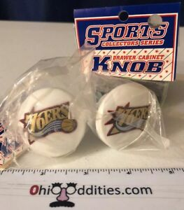 NBA-Philadelphia-76ers-Basketball-Logo-Cabinet-Knobs-x2-NEW