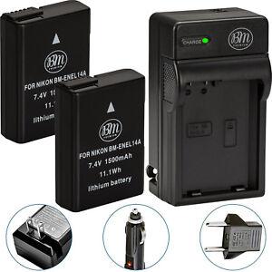 BM-2X-EN-EL14a-Batteries-amp-Charger-for-Nikon-D3100-D3200-D3300-D3400-D3500