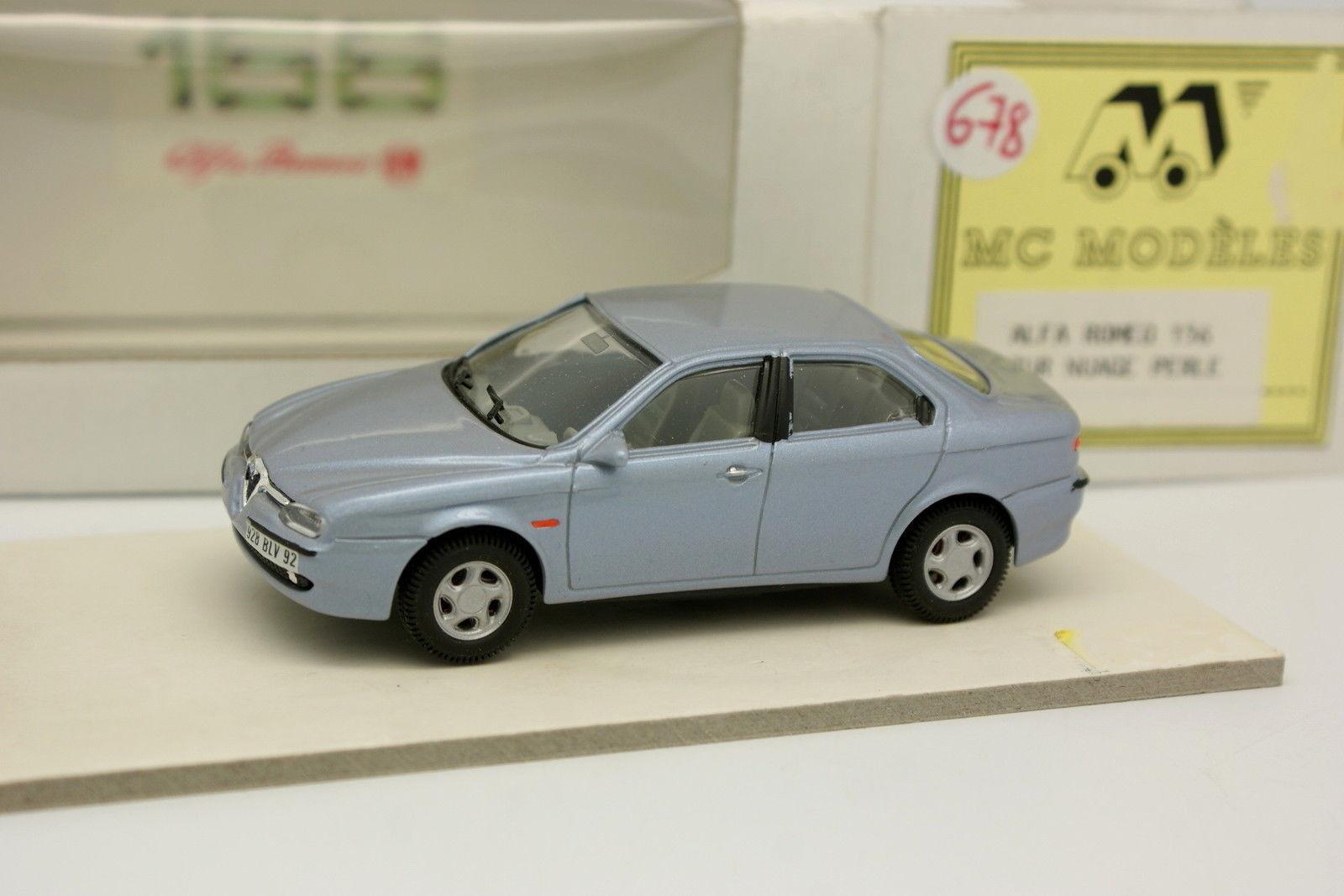 Mc Modelos Resina 1 43 - Alfa Romeo 156 Azul