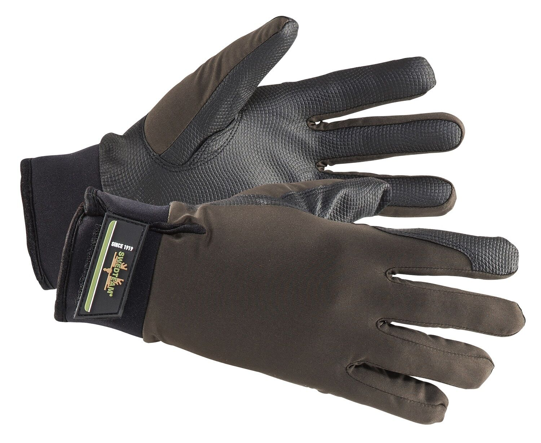 SWEDTEAM Handschuhe GRIP dry - 08-300 - dunkel oliv - Hipora-Membrane
