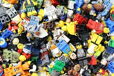 ACCESSORIES FREE SH LEGO BULK LOT 20 MINIFIGURE RANDOM PEOPLE TOWN CASTLE CITY