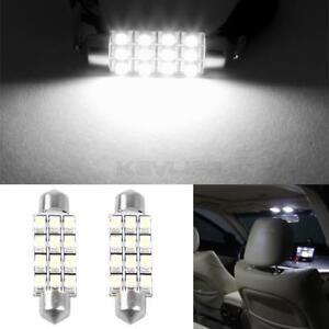 6pcs Blue 42mm Car Interior LED Light Replace Bulbs Festoon 12-SMD-3528 For Dome