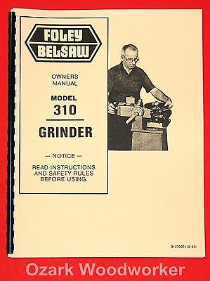 Cnc, Metalworking & Manufacturing Metalworking Manuals, Books & Plans Obliging Foley Belsaw Model 310 Saw Blade Grinder Instructions Part Manuals 0999 Matching In Colour