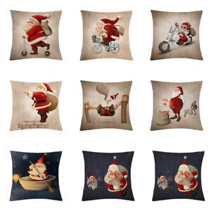 18-034-Funda-De-Almohada-De-Navidad-Santa-Algodon-Lino-Cubierta-Cojin-Sofa-Cobertor-De-Decoracion