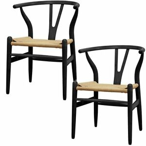 Image Is Loading Replica Hans Wegner Wishbone Chair Black