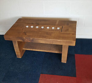 Image Is Loading SOLID WOOD RUSTIC CHUNKY PLANK COFFEE TABLE WITH