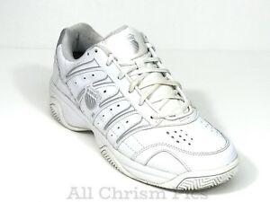 6388023c6f61 K-Swiss Shock Spring Leather White Sneakers Men s US Size 10.5 Low ...