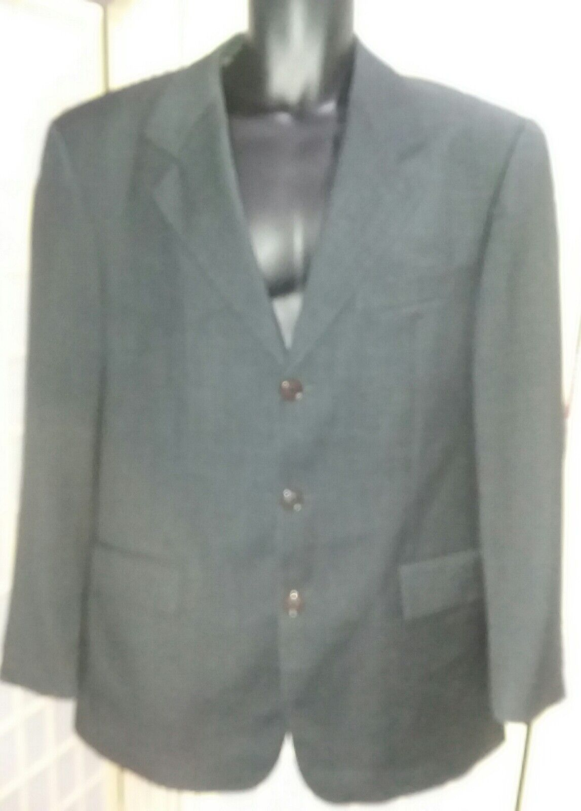 Mens  Hugo Boss Charcoal Grey Artemis 3 Button 100% Virgin Wool sz 50 Blazer