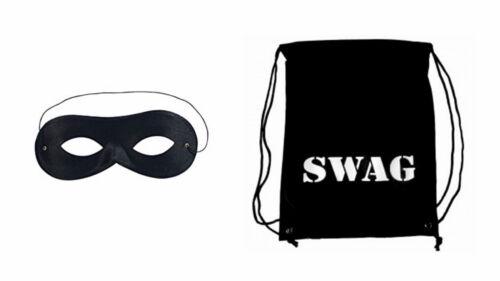 NONNA rapinatore GIORNATA MONDIALE DEL LIBRO personaggio BLACK LADRO Swag Bag Black Eye Mask