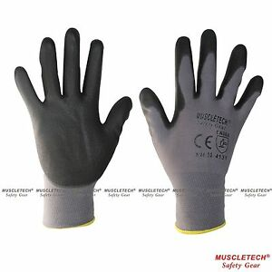 MUSCLETECH-PU-Safety-Work-Gloves-Mechanic-Gloves-General-Purpose-Gloves-12-Pairs