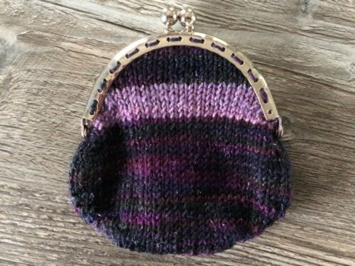 Sparkle Berries by KnittedNature Hand Knitted Coin Purse with Twist Clasp