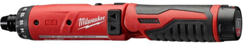 1 Battery Kit Milwaukee Hex Screwdriver M4 4-Volt Lithium-Ion Cordless 1//4 in