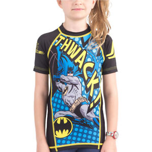 Fusion Fight Gear Kid's Batman Thwack Short Sleeve Rashguard
