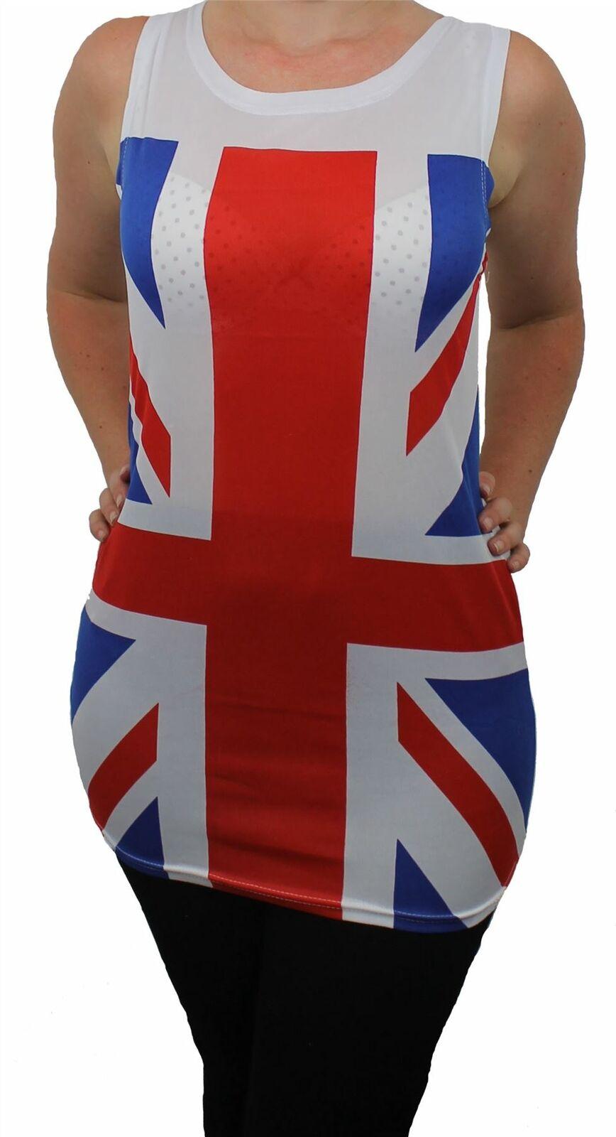 FAULTY UNION JACK VEST UNITED KINGDOM BRITISH ROYAL JUBILEE T-SHIRT FANCY DRESS