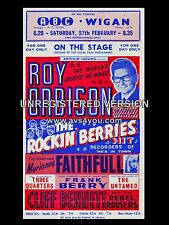 "Roy Orbison ABC Wigan 16"" x 12"" Photo Repro Concert Poster"