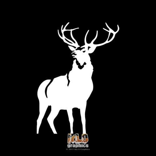 DEER STAG vinyl Sticker Decal for Truck car ATV Hunter Sportsman Outdoorsman