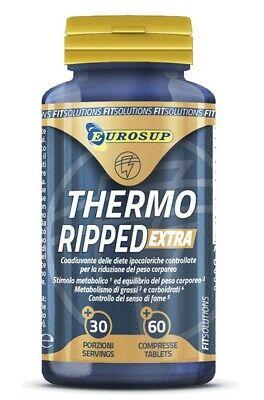Eurosup Thermo Ripped Extra 60 Cpr Termogenico Dieta Bruciagrassi + Portapillole