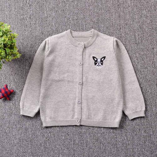 2019 Chic Bébé Enfants Garçon Fille Tricot Pull Cardigan Manteau Veste Outwear