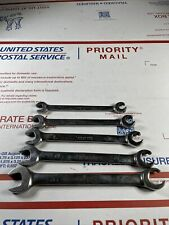 Snap On 5pc Open Flare Nut Sae Wrench Set 38 58 Rxs605