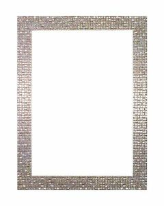 Modern-Retro-Flat-Bright-Mirror-Effect-Mosaic-Picture-Photo-Frame-Pearl-Silver