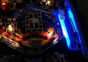 TWILIGHT ZONE  Pinball interactive shooter lane light mod BLUE