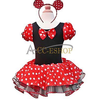 Halloween Kid Girls Dresses Minnie Mouse Party Fancy Tutu Dress Up Costume XMAS