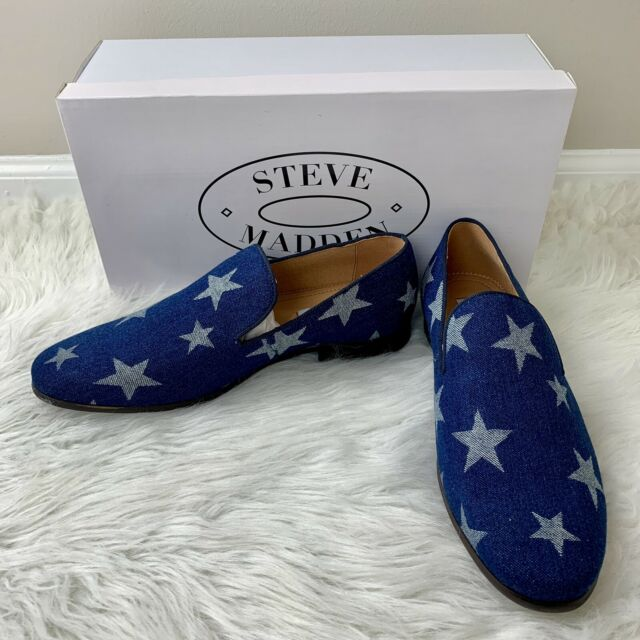 Grabar Sin tenga en cuenta  Steve Madden Mens Lodestar Loafers Blue Denim Slip-on Shoes Stars USA 9 for  sale online | eBay