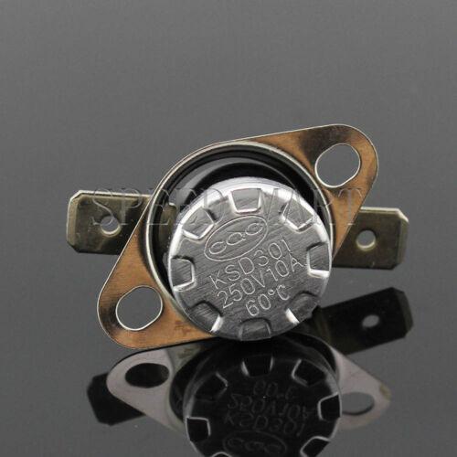 10 X Temperature Switch Control Sensor Thermal Thermostat 60°C N.O KSD301