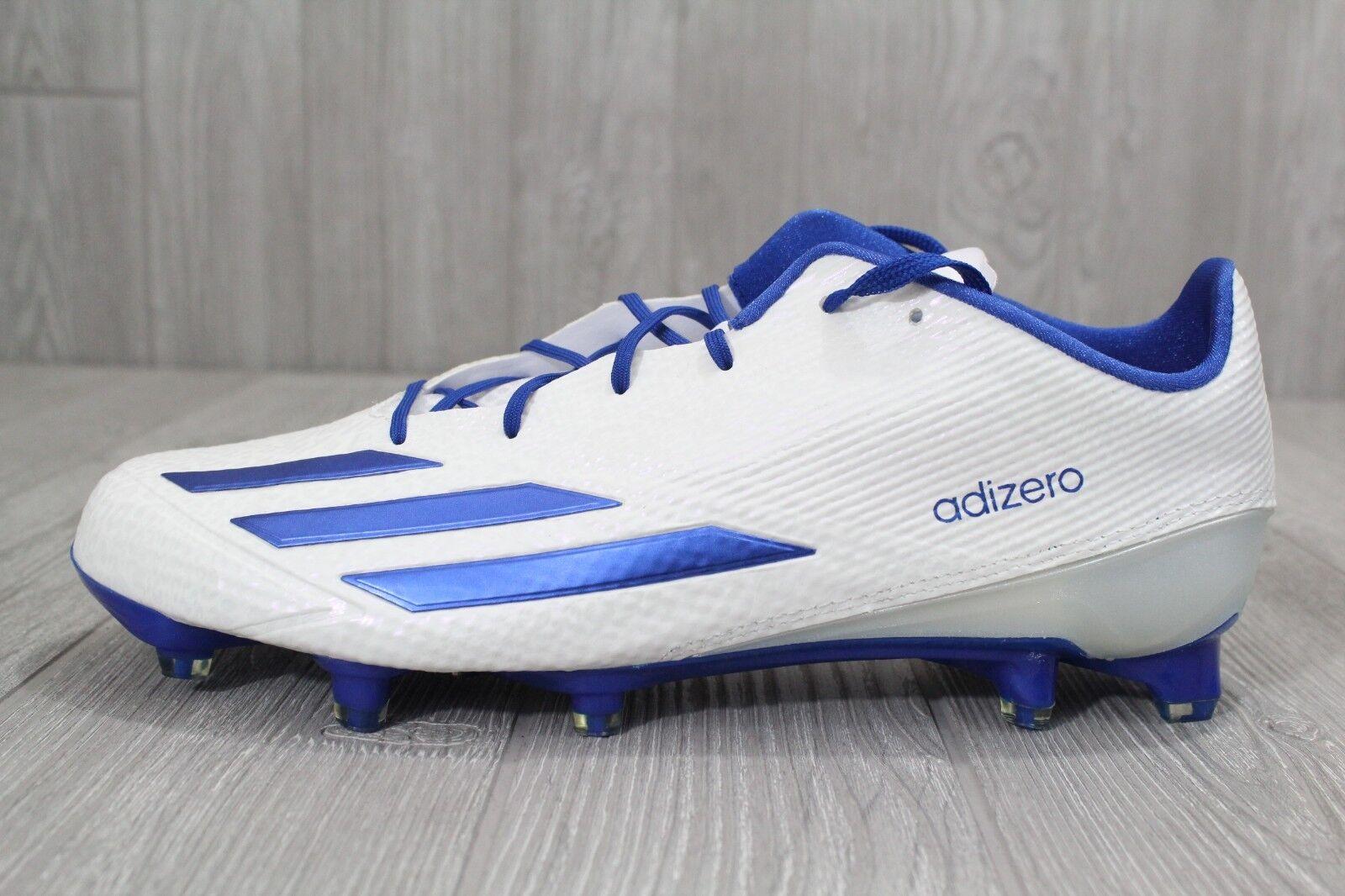33 neue männer adidas fußball adizero 5 - sterne - 5,0 weiß - blau stollen aq8734 größe 12