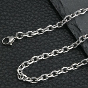 12pcs Wholesale Men Silver Stainless Steel Round rolo Link Necklace Chain 3-6mm