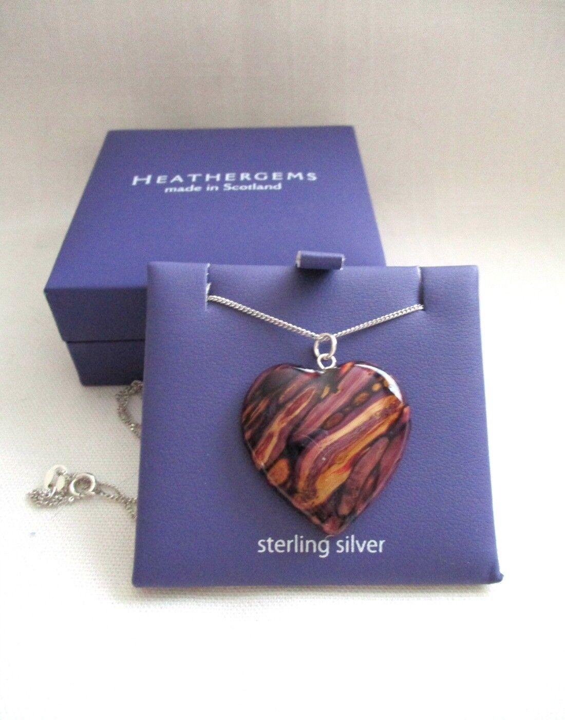 Heathergems Pendant - Medium Heart - New - First Quality -