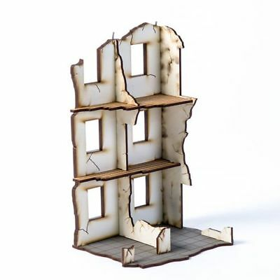 28S-WAW-143 4GROUND Urban Ruins ; Stalingrad #2-28mm