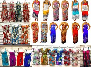 WHOLESALE-LOT-40-Dresses-BOHO-HIPPIE-SUMMER-SUN-DRESS-SIZE-CASUAL-CLUB-S-M-L-XL