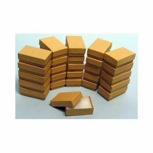 """100 Kraft Cotton Filled Jewelry Craft bracelet earring chain Gift Boxes 3 1//4/"""""""