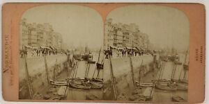 Il-Havre-Grand-Wharf-Normandie-Francia-Foto-Stereo-T4n27-Vintage-Albumina-c1870