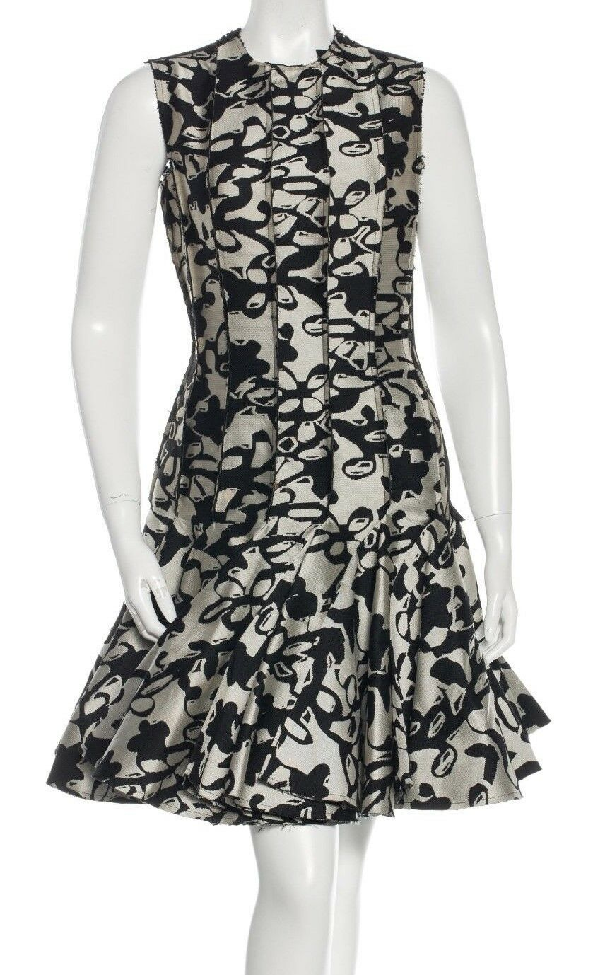 5K Auth NEW with Tags LANVIN COUTURE 2014 Runway Jacquard DRESS Flirty SKIRT