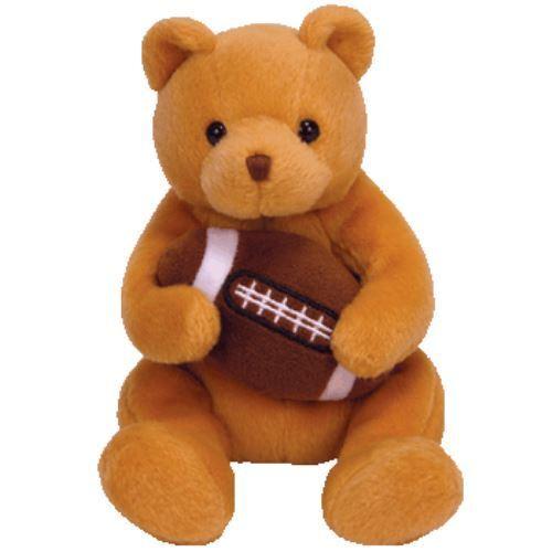 TY BEANIE BABIE * BLITZ * THE AMERICAN FOOTBALL TEDDY BEAR BEANIE BABY - RARE