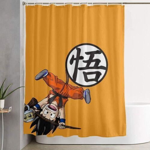 DRAGON BALL Printed Fabric Waterproof Bathroom Shower Curtain Accessory Set