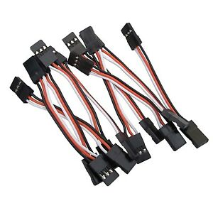 10x-5CM-Male-to-Male-JR-Futaba-Servo-Extension-Lead-Wire-Cable-50mm-KK-MWC-APM